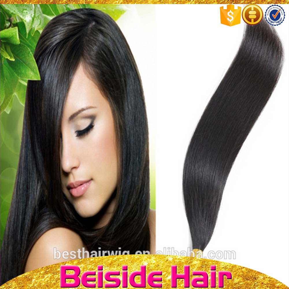 Natural black silky pre-bond hair russian remy hair extensions u tip hair