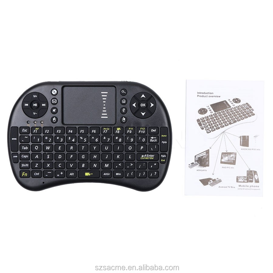 Mini i8 Wireless Keyboard 2.4GHz Russian letters Air Mouse Remote Control Touchpad For Tablet PC
