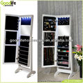 Full length jewelry cabinet bedroom furniture on line with fashion LED light
