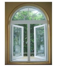 china factory best price PVC arched window with grille design glass arched windows