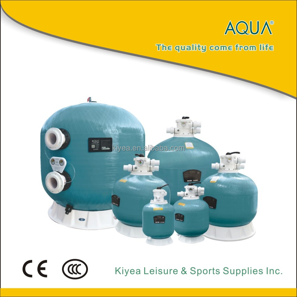 AQUA Top-mount frp sand filter swimming pool water filtration system