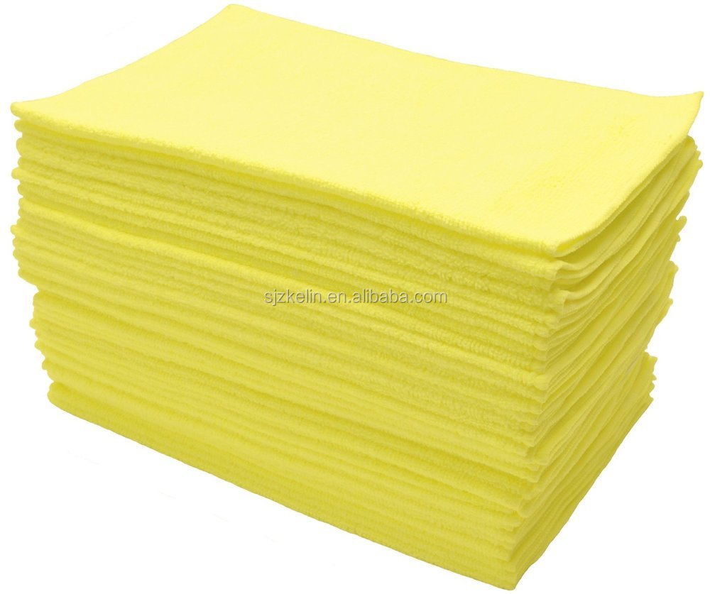 Yellow Microfiber Cloths Costco: Bright Yellow Lint Free Microfiber Towels For Window
