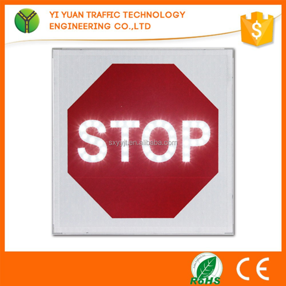 Solar Powered IP65 Portable reflective flashing LED road traffic signs