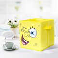 Cute cartoon patterns non-woven fabric storage boxes