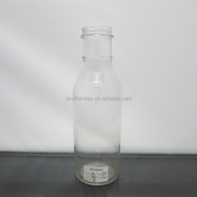 12 ounce 380ml wholesale round glass salad dressing/ketchup/jam bottle with metal caps
