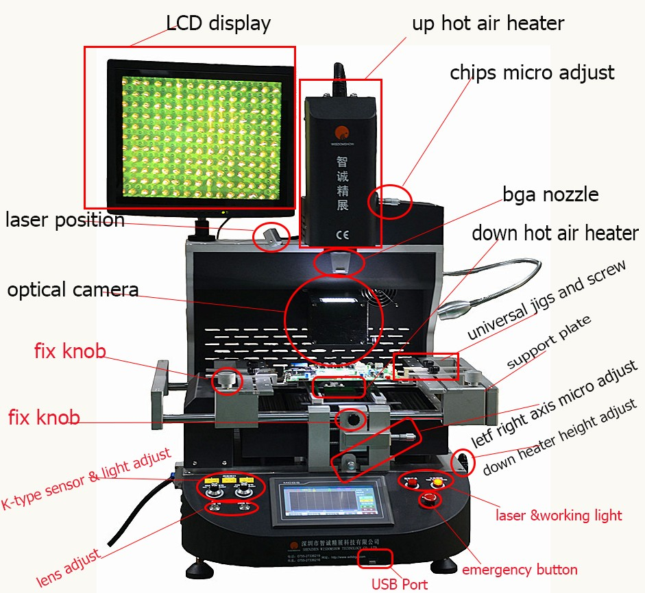 BEST Cost-effective BGA rework station high automatic WDS-650 with optical alignment , mobile phone bga repair equipment