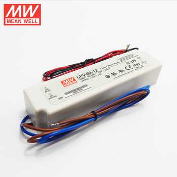 MEAN WELL 60w led driver 12v with UL&CUL&CE approved LPV-60-12