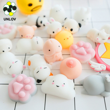 2017 new products lovely Plastic Animal soft rubber Mochi Squishy silicone Squeeze Toy