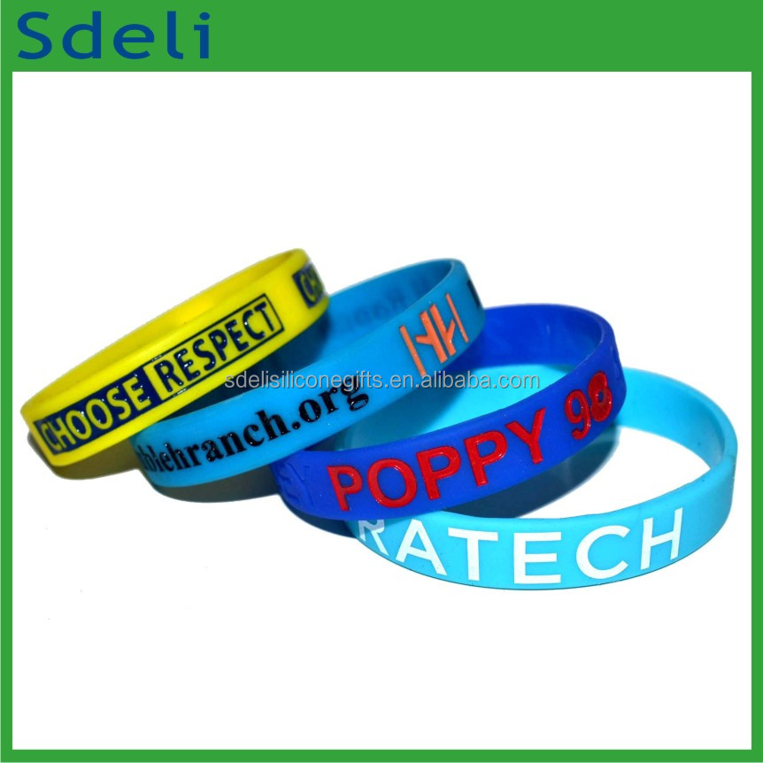 bulk cheap wholesale custom made silicone hand band