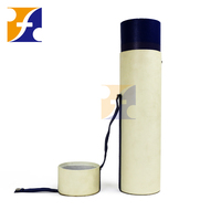 New design cylinder leather wine carrier With handle