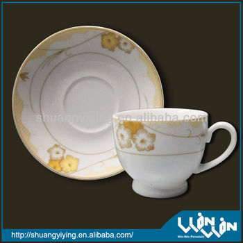 Fashionable flower surface of porcelain cup and saucer wwc-13409