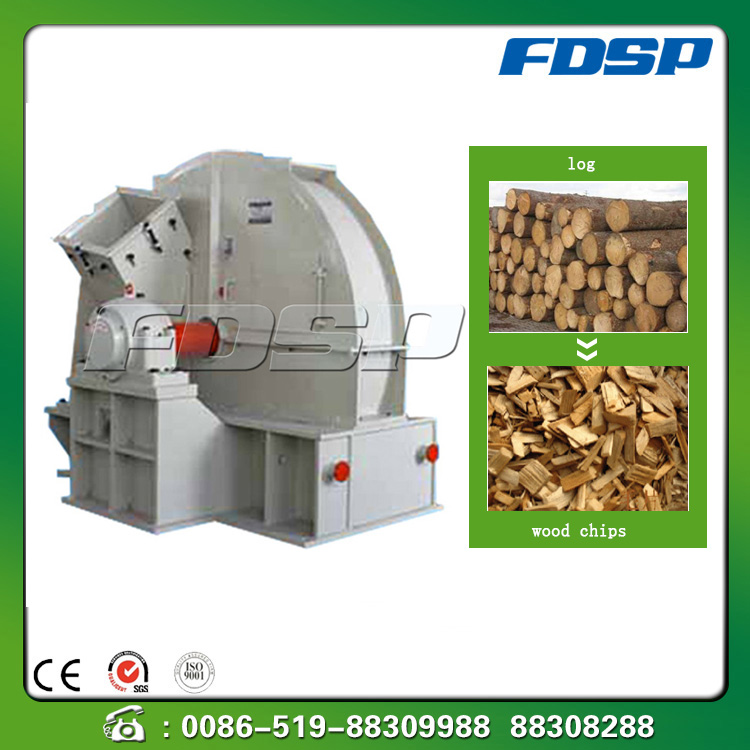 Low energy wood stuff chipper/tree bark cutter