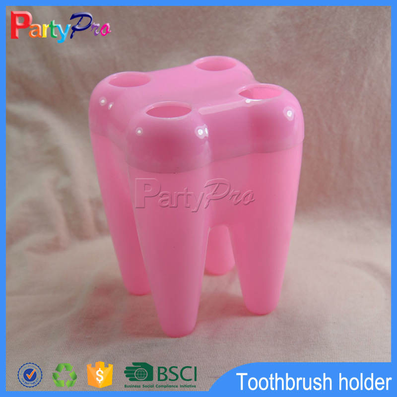 2015 Hot Selling Plastic toothbrush holder tooth shape toothbrush holder