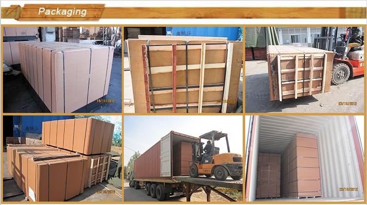 China factory sanded raw mdf plain mdf hdf melamine mdf for Mobilia qatar