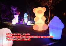 LED Lighting inflatable bear cartoon for outdoors promotion
