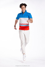 Men stylish Breathable quick dry 95% polyester and 5% spandex polo t shirt