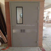HD161 galvanized steel single leaf hermetic hospital swing door in low price