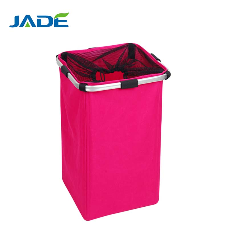 Large capacity folding aluminum tube basket for laundry,folding bicycle basket YK-Jade