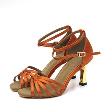 Stylish cheaper crystal heel latin dance shoes with low price