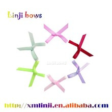 2016 Wholesale handmade mini 100% polyester of bows satin ribbon