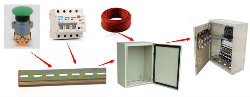 Saipwell 12 Ways Clear Distribution Box IP66 288*220*80 Electrical 3 Phase Power Distribution Box