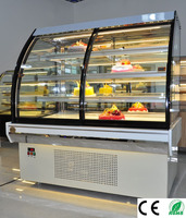 CE Approve front door Euro style 2.0m cake showcase/cake refrigerate showcase