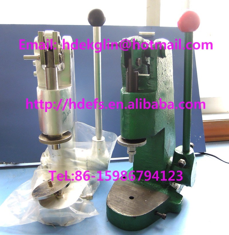 professional manual fabric covered button machines