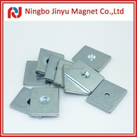 Rare Earth Strong Permanent N35 Block Magnet With a Hole Zn Plating