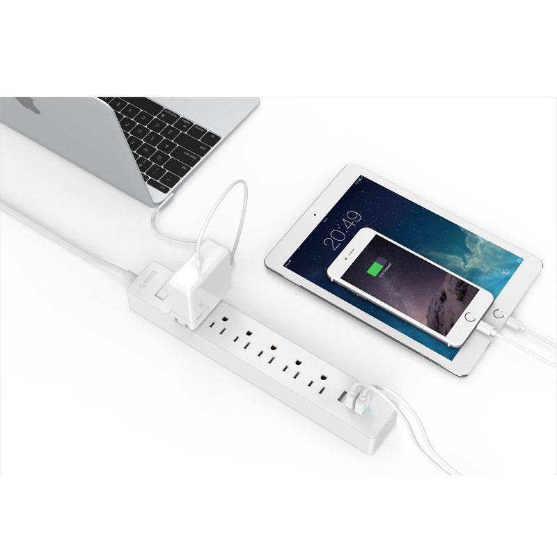 ORICO LPC-6A3U-US home/office surge protector with 3 usb charger port