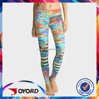 womens colorful printing leggings custom brand leggings
