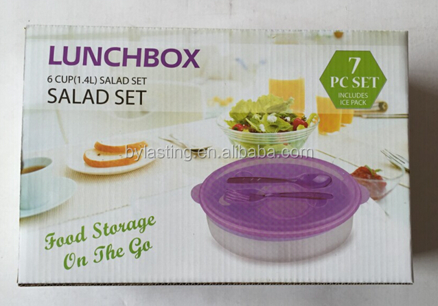 Plastic Bowl with Forks Plastic Bowl with Lid Food Bowl