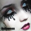 Wholesale halloween white mesh black circle contact lenses red mesh crazy scary colored contact lenses