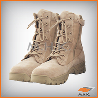 Tactical Boots - 2 zips - Cow Suede Leather and Nylon Canvas