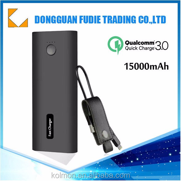 15000mAh Micro-USB & Type C Input, Output High-Speed Charging PowerIQ Technology qc3.0 power bank for Samsung