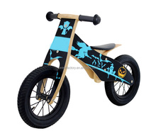 Kids Walking Bicycle balance no pedal wooden bike