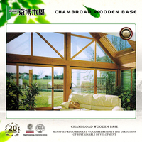 Wood prefabricated glass houses and villa