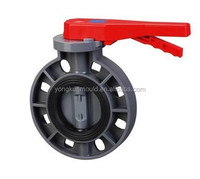 Manufacturing plastic upvc butterfly valve injection mould