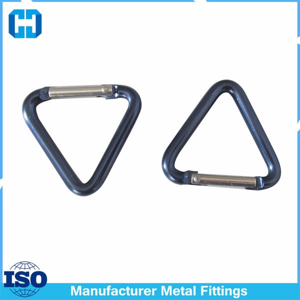 High Quality Triangle Carabiner Keychain Aluminum Snap Hook Keyring