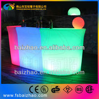 Fashion and Modern flower carving L shape illuminated commercial LED bar counter design