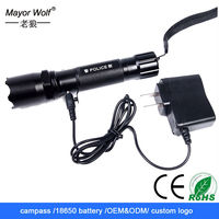 Car Charging best rechargeable led flashlight with compass and rechargeable battery
