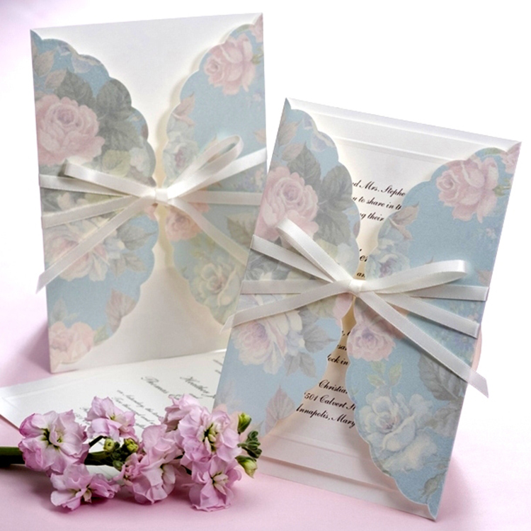 Personalized Exquisite wedding invitations b hands card