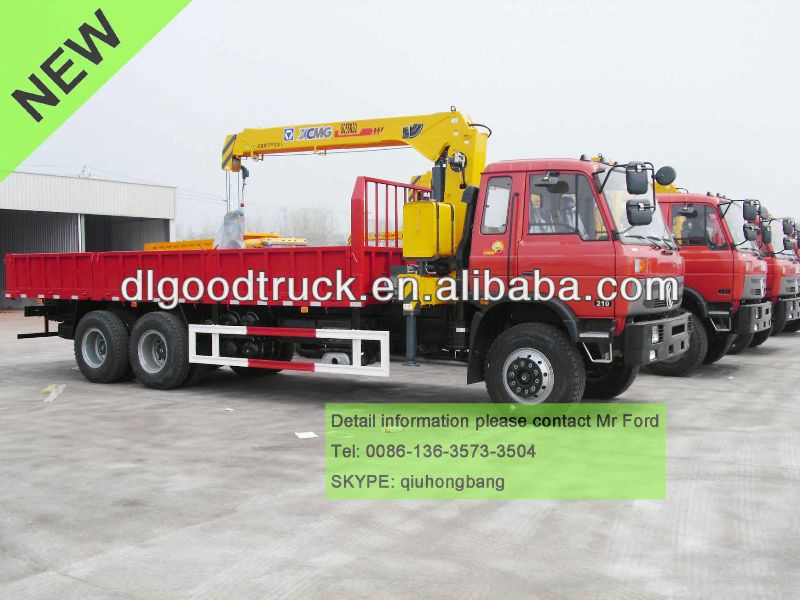 5T DONGFENG 6x4 truck with crane truck mounted crane special construction vehicle 0086-13635733504