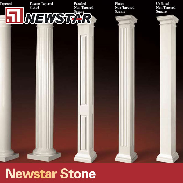 List manufacturers of square pillar design buy square for Where to buy columns for house