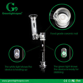2016 Greenlightvapes G9 Henail Updated Ecigarette rechargeable 2500mah henail Wax Tool H enail