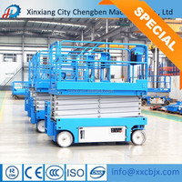 Self propelled scissor lift rough terrain 15m from Henan