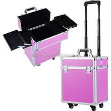 Large Beauty cosmetic Trolley case With Universal Wheels