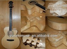 15inch handmade solid maple wood flattop guitar