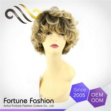 Comfort Big Price Drop Soft And Smooth Cheap Hair Style Bob Blonde Wigs Short Curly