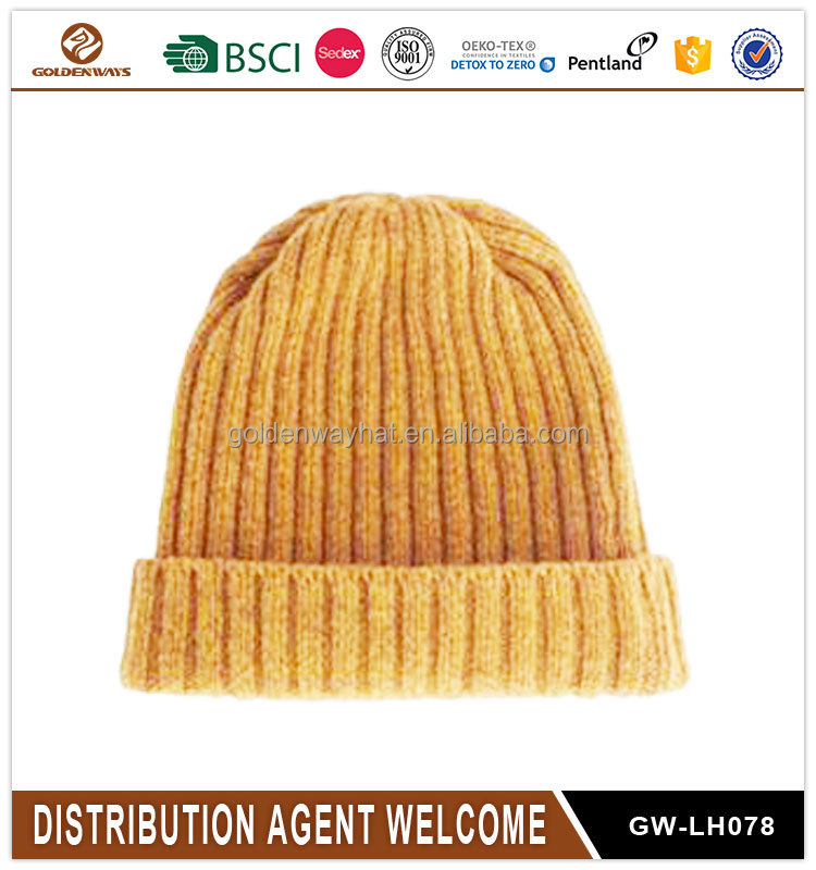Promotional mens Gift Use knitted hat cheap winter beanie hat