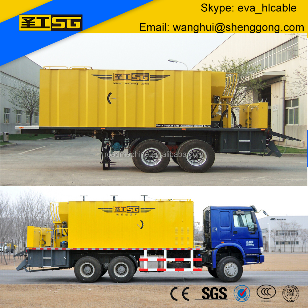 Micro Surfacing Semi Trailer Slurry Seal Truck, Slurry Sealer Machine